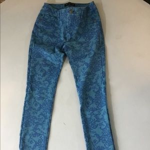 Active brand blue printed jeggings